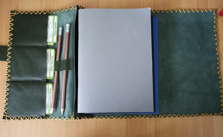 Leather, refillable journal holders – Roll Initiative D&D